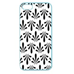 Floral Black White Apple Seamless iPhone 5 Case (Color)