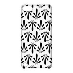 Floral Black White Apple iPod Touch 5 Hardshell Case with Stand