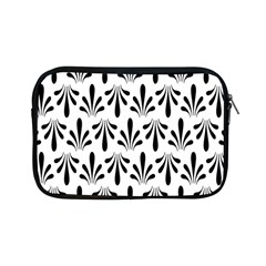 Floral Black White Apple iPad Mini Zipper Cases