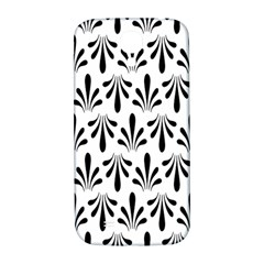 Floral Black White Samsung Galaxy S4 I9500/I9505  Hardshell Back Case