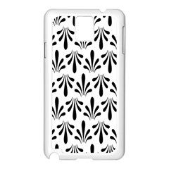 Floral Black White Samsung Galaxy Note 3 N9005 Case (White)