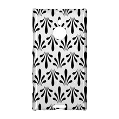 Floral Black White Nokia Lumia 1520