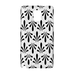 Floral Black White Samsung Galaxy Note 4 Hardshell Case