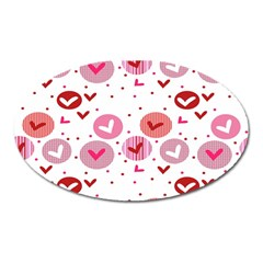 Crafts Chevron Cricle Pink Love Heart Valentine Oval Magnet