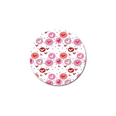Crafts Chevron Cricle Pink Love Heart Valentine Golf Ball Marker (4 Pack)