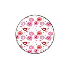 Crafts Chevron Cricle Pink Love Heart Valentine Hat Clip Ball Marker (10 Pack)