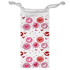 Crafts Chevron Cricle Pink Love Heart Valentine Jewelry Bag