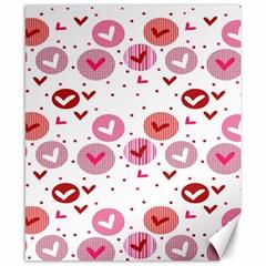 Crafts Chevron Cricle Pink Love Heart Valentine Canvas 8  x 10
