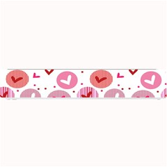 Crafts Chevron Cricle Pink Love Heart Valentine Small Bar Mats