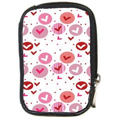 Crafts Chevron Cricle Pink Love Heart Valentine Compact Camera Cases