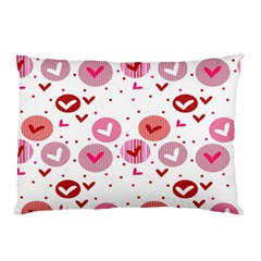Crafts Chevron Cricle Pink Love Heart Valentine Pillow Case (Two Sides)