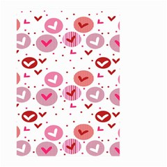 Crafts Chevron Cricle Pink Love Heart Valentine Large Garden Flag (Two Sides)