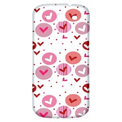 Crafts Chevron Cricle Pink Love Heart Valentine Samsung Galaxy S3 S III Classic Hardshell Back Case