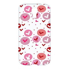 Crafts Chevron Cricle Pink Love Heart Valentine Samsung Galaxy S4 I9500/I9505 Hardshell Case