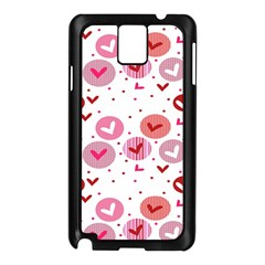 Crafts Chevron Cricle Pink Love Heart Valentine Samsung Galaxy Note 3 N9005 Case (Black)