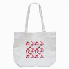 Crafts Chevron Cricle Pink Love Heart Valentine Tote Bag (White)