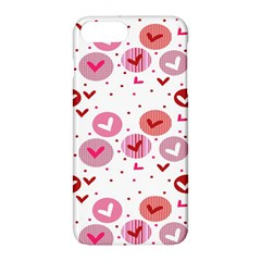 Crafts Chevron Cricle Pink Love Heart Valentine Apple Iphone 7 Plus Hardshell Case