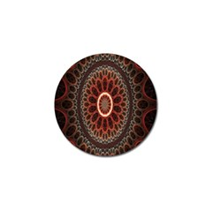 Circles Shapes Psychedelic Symmetry Golf Ball Marker