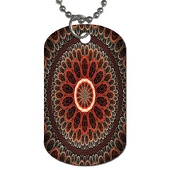 Circles Shapes Psychedelic Symmetry Dog Tag (Two Sides)
