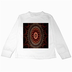 Circles Shapes Psychedelic Symmetry Kids Long Sleeve T-Shirts