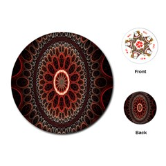 Circles Shapes Psychedelic Symmetry Playing Cards (Round)
