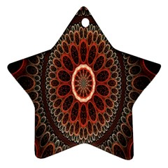 Circles Shapes Psychedelic Symmetry Star Ornament (Two Sides)