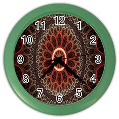 Circles Shapes Psychedelic Symmetry Color Wall Clocks