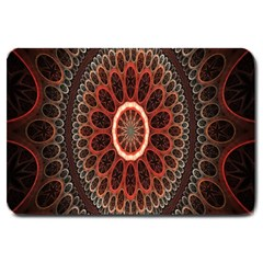 Circles Shapes Psychedelic Symmetry Large Doormat