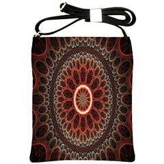 Circles Shapes Psychedelic Symmetry Shoulder Sling Bags