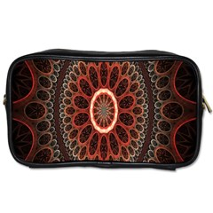 Circles Shapes Psychedelic Symmetry Toiletries Bags