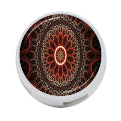 Circles Shapes Psychedelic Symmetry 4-Port USB Hub (Two Sides)