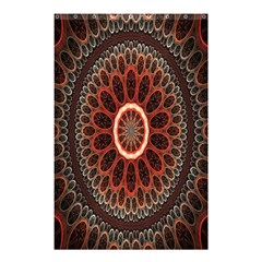 Circles Shapes Psychedelic Symmetry Shower Curtain 48  X 72  (small)