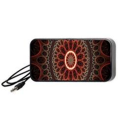Circles Shapes Psychedelic Symmetry Portable Speaker (Black)