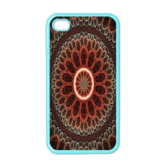 Circles Shapes Psychedelic Symmetry Apple iPhone 4 Case (Color)