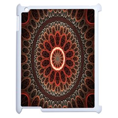 Circles Shapes Psychedelic Symmetry Apple iPad 2 Case (White)
