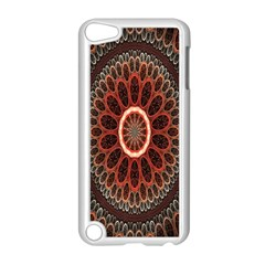 Circles Shapes Psychedelic Symmetry Apple iPod Touch 5 Case (White)