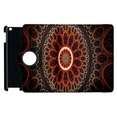 Circles Shapes Psychedelic Symmetry Apple iPad 3/4 Flip 360 Case