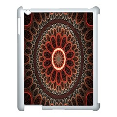 Circles Shapes Psychedelic Symmetry Apple iPad 3/4 Case (White)