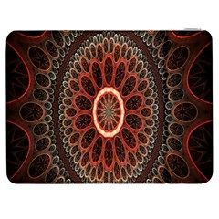 Circles Shapes Psychedelic Symmetry Samsung Galaxy Tab 7  P1000 Flip Case