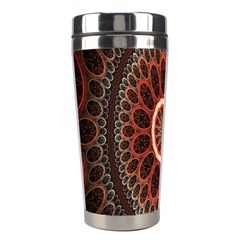 Circles Shapes Psychedelic Symmetry Stainless Steel Travel Tumblers