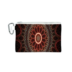 Circles Shapes Psychedelic Symmetry Canvas Cosmetic Bag (S)