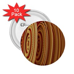 Circles Figure Light Gold 2.25  Buttons (10 pack)