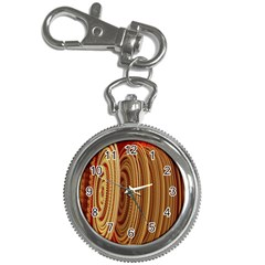 Circles Figure Light Gold Key Chain Watches