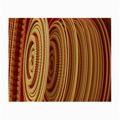 Circles Figure Light Gold Small Glasses Cloth (2-Side)