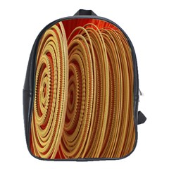 Circles Figure Light Gold School Bags(Large)