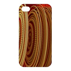 Circles Figure Light Gold Apple iPhone 4/4S Hardshell Case