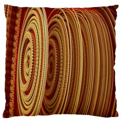 Circles Figure Light Gold Large Cushion Case (One Side)