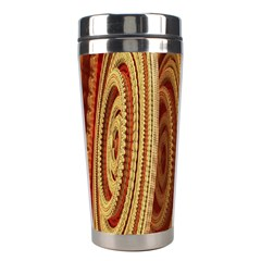 Circles Figure Light Gold Stainless Steel Travel Tumblers