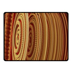 Circles Figure Light Gold Double Sided Fleece Blanket (Small)
