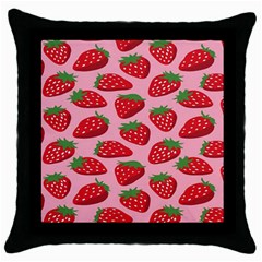 Fruitb Red Strawberries Throw Pillow Case (Black)